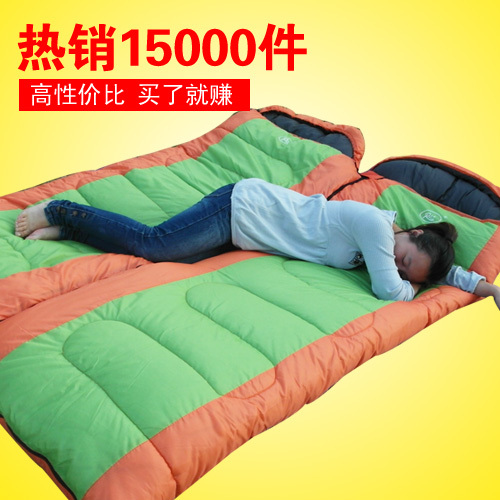 Free shipping Wild adult sleeping bag,outdoor ultra-light 2.2kg camping winter sleeping bag