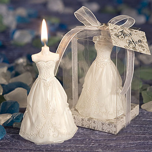wedding favor candles -- The Perfect bride Dress Scented Candle party decorations 100pcs/lot(China (Mainland))