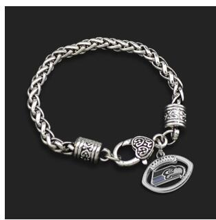1pcs men fashon jewelry trendy sports Seattle Seahawks NFL Europe football team Alloy drip exaggerated Super Bowl Bracelet(China (Mainland))