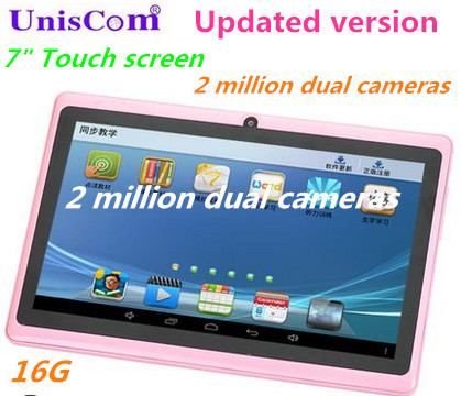 Updated version 7 inch 16G hd touch screen MP4 MP5 android wifi quad-core 3500 ma cell 1024 * 600 resolution camera bluetooth(China (Mainland))