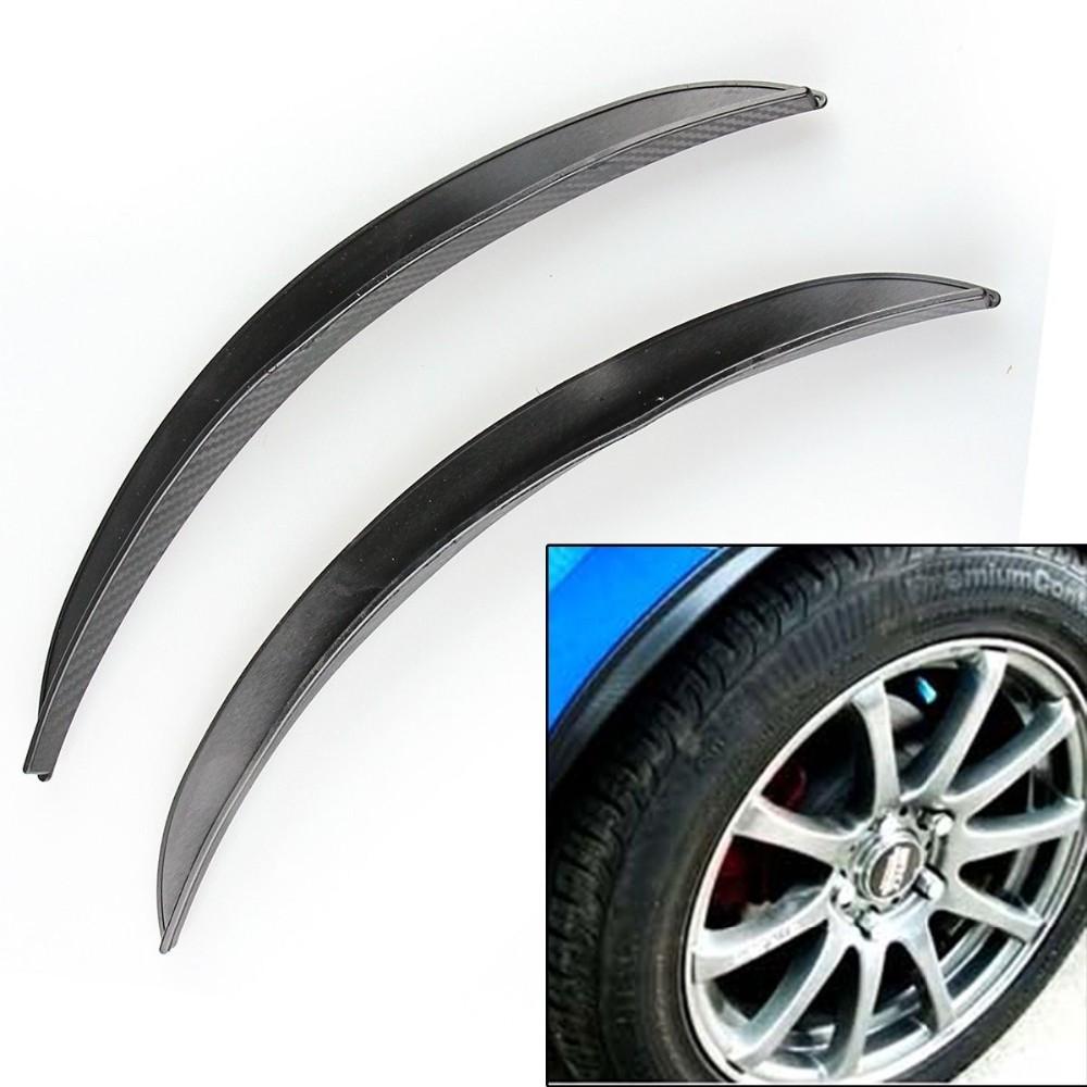 1 Pair Carbon Fiber Car Style Fender Flare Wheel Lip Body Kit Universal For Car Truck Car Mudguard Mud Guard Auto Accessories(China (Mainland))
