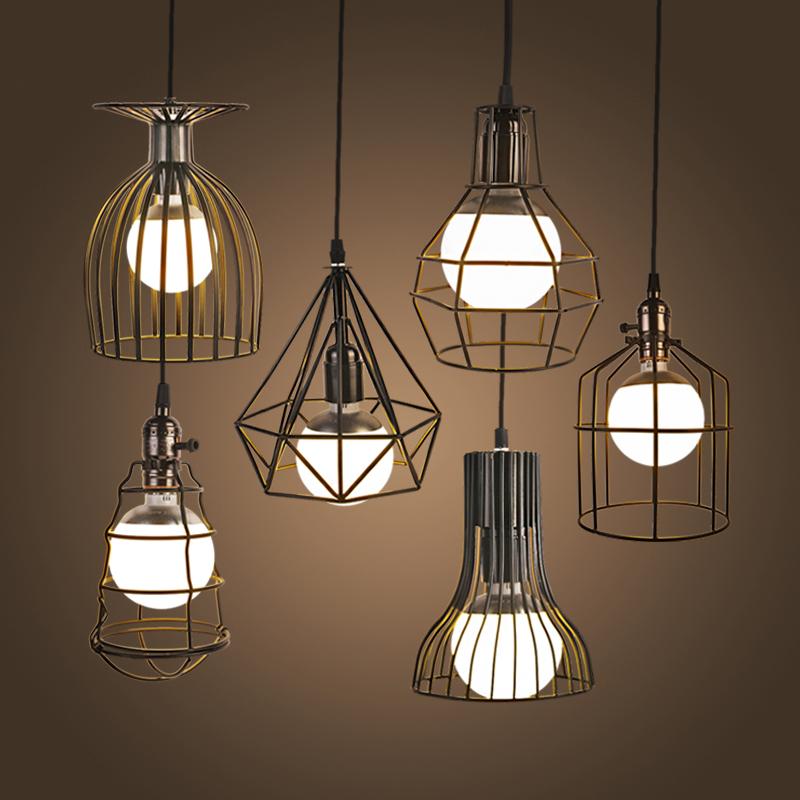 Vintage Iron Pendant Lights Industrial Loft Droplight Bar