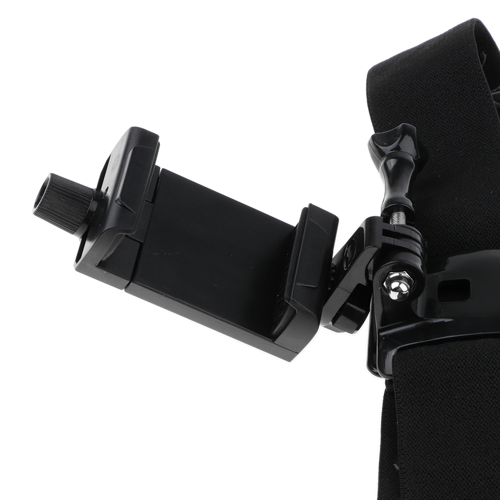 Phone Head Mount GoPro Strap for iPhone, Samsung Galaxy, & Note All Smartphones universal adapter connect the clip chest strap