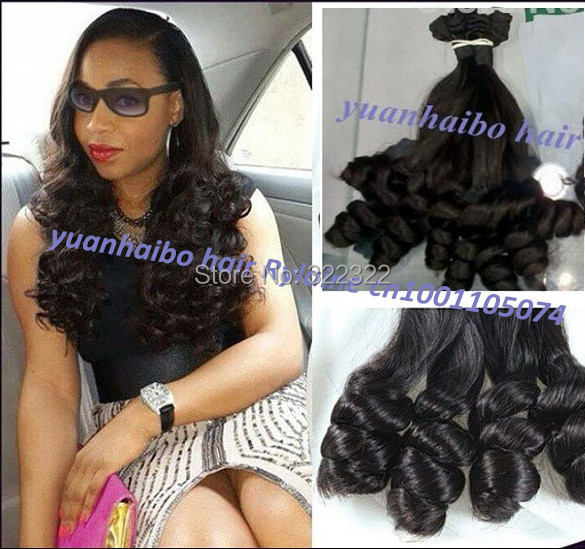 Top quality 6a grade 1b# 3pcs/lot peruvian tip bouncy curl aunty funmi hair for black women free shipping<br><br>Aliexpress
