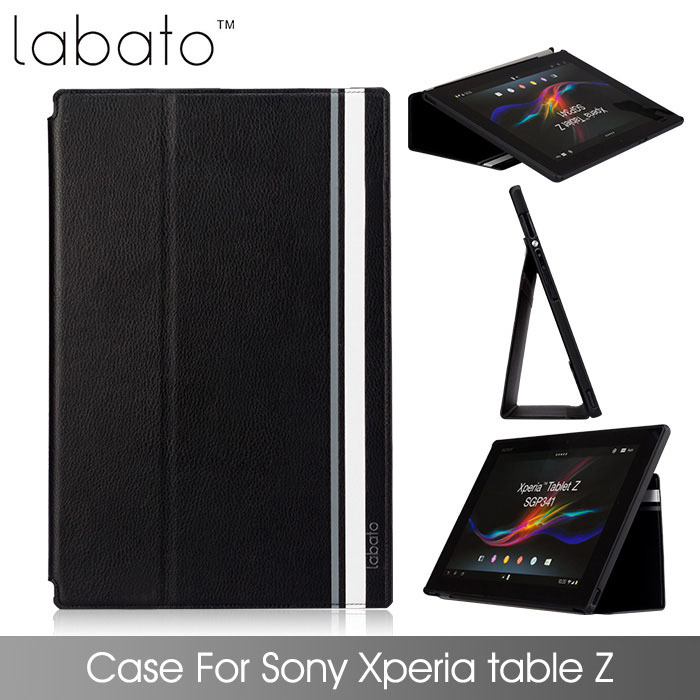 For sony xperia z & 2 tablet case leather + Original PC Cover For Xperia tablet Z & Z2 Smart cover(China (Mainland))