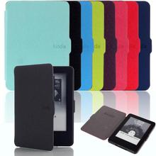 High Quality New Fashion Smart Ultra Slim Magnetic Case PU Leather Cover For Amazon Kindle 7th Gen 2014 Free Shipping #LR17