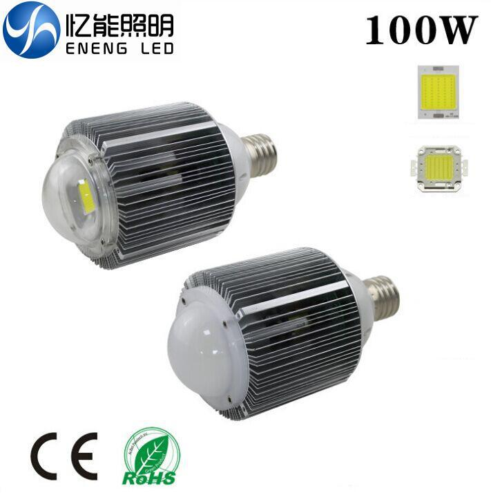 dhl free shipping e40 100w led high bay light bulb lamp with Epistar cob led ac95-240v(China (Mainland))