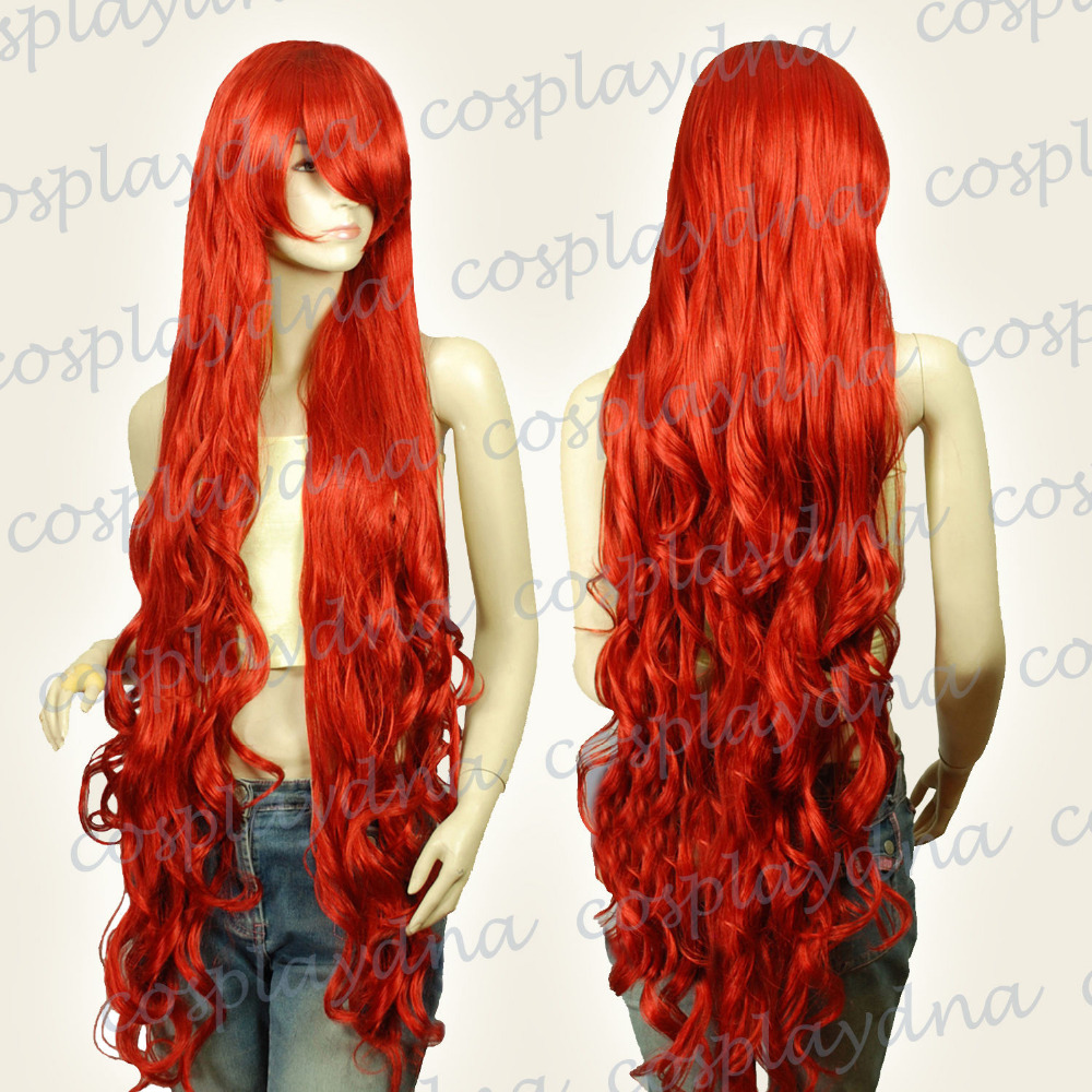 48 inch Kanekalon Series Dark Red Curly Long Cosplay DNA WigsParty cosplays heat resistant (B0320)<br><br>Aliexpress
