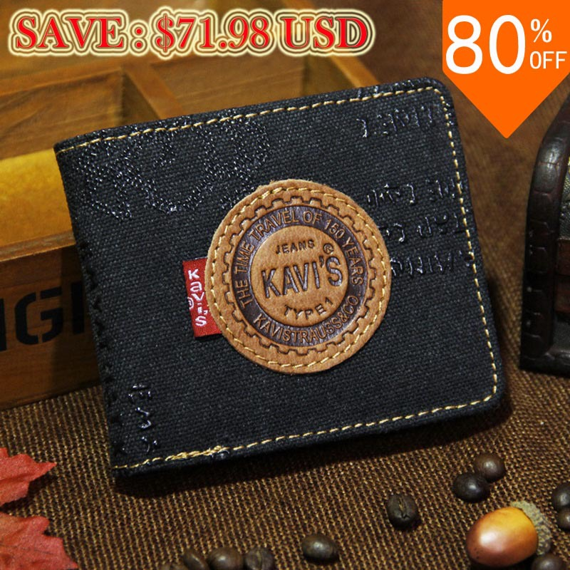 Mens' Vintage wallet Canvas and Genuine Leather Wallet Male Short Purse Fashion Man's Bag Credit Card Holder for Men(China (Mainland))