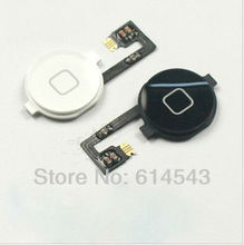 200pcs/lot For iphone 4 4G home button with flex cable white and black color available free shipping by DHL EMS(China (Mainland))