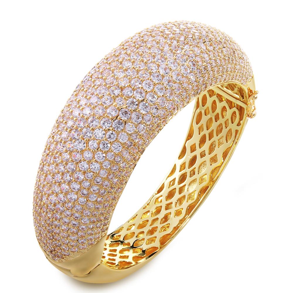 New Luxury Big Bangle for women AAA Cubic Zirconia Wedding Jewelry  Cadmium Free Lead Free Wedding Party Jewelry<br><br>Aliexpress