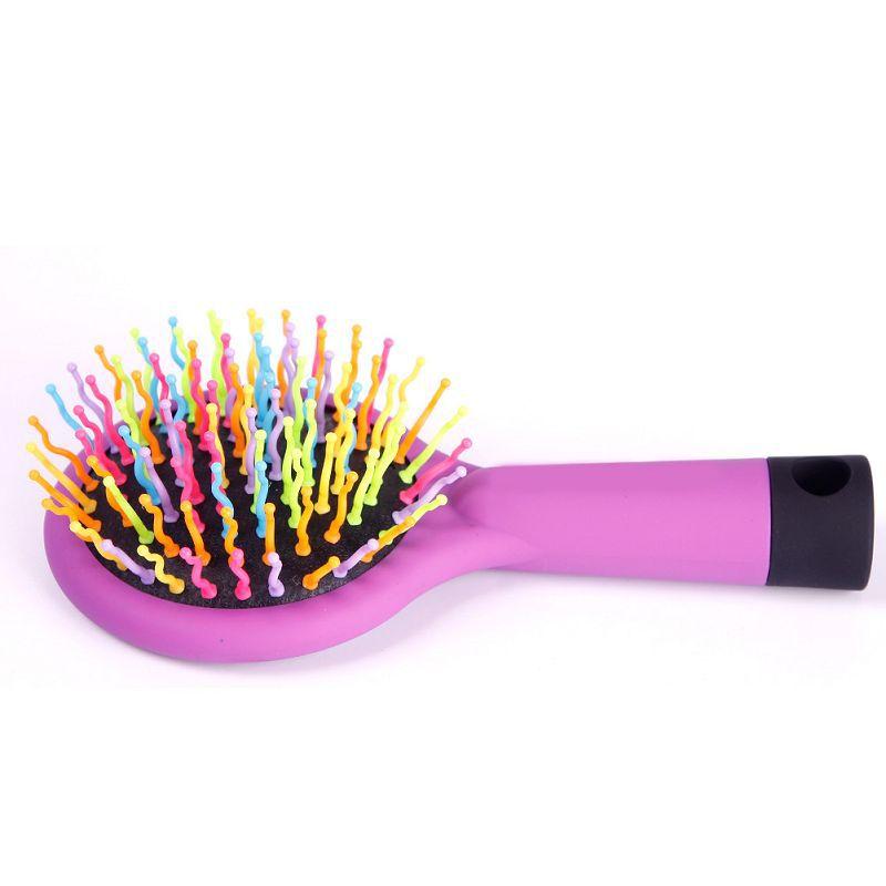 Rainbow Volume Anti-static Magic Hair Curl Straight Massage Comb Brush Mirror Styling Tools escova de cabelo#67512(China (Mainland))