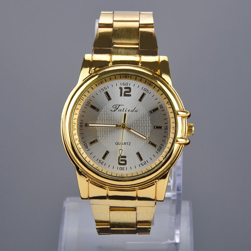 Luxury Brand Dress Watch Men gold Stainess Steel Quartz Watches Male Casual Business Wrist watch relogio