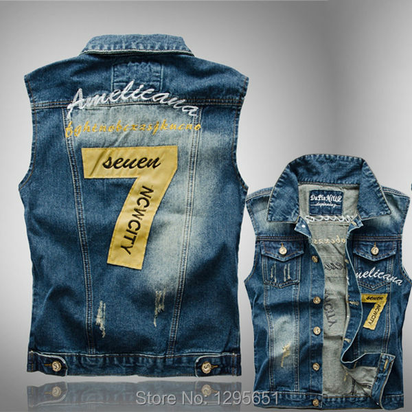 Mens Blue Denim Sleeveless Jean Jacket | Outdoor Jacket