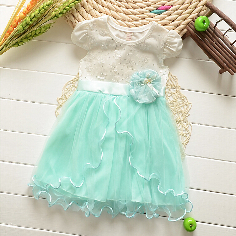 2016 New Summer Baby Girl Dress Lovely Princess Party Dresses Sweet Children's Dresses Ball Gown(China (Mainland))