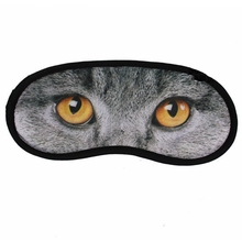 Animal Cat-Image Printed Cartoon Eye Sleep Masks Travel Aid Comfortable Sleeping Blindfold Rest Eyeshade Random Style(China (Mainland))