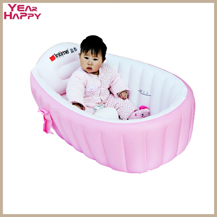 portable baby bathtub baby kid toddler tubs secure inflatable portable eco friendly swimming. Black Bedroom Furniture Sets. Home Design Ideas