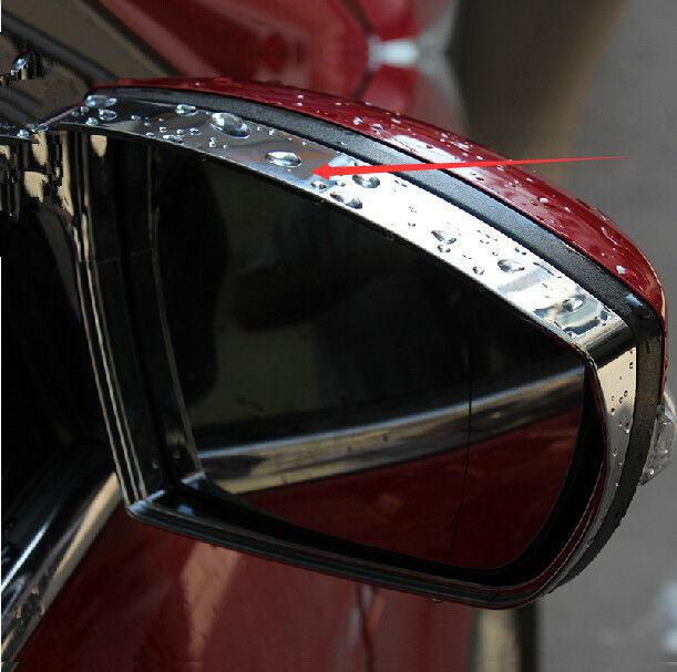 2PCS Chrome Mirror Rain Snow Guard Sun Visor vent for Ford Escape Kuga 2013 2014(China (Mainland))