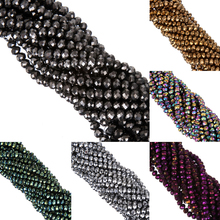 Buy LNRRABC fashion 8MM 70pcs/lot Faceted Bicone Crystal Stand Beads Round Glass DIY Bicone Charms Spacer Loose Beads Jewelry for $1.19 in AliExpress store