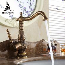 Neue Arrivel Dekoration einzigen Handgriff Waschbecken Wasserhahn Mischer Kran Antique Wasserhahn Messing heißes und kaltes Wasser AL-9966F(China (Mainland))