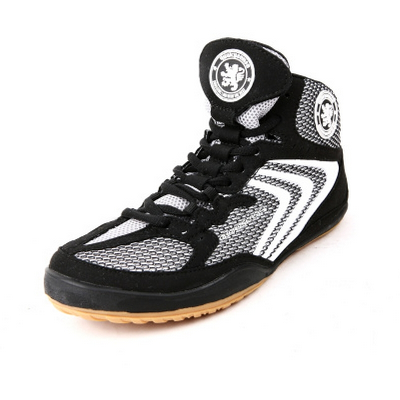 Hot selling genuine sports men wrestling shoes rubber sole boxing shoes non-slip breathable professional training shoes #B1498