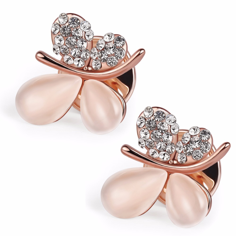 2pcs/lot Mini Collar Clips Elegant Small Shirt Cube Cufflink Opal Crystal Lapel Pin Brooches Scarf Hijab Pins Cute Gift CMZ0026(China (Mainland))
