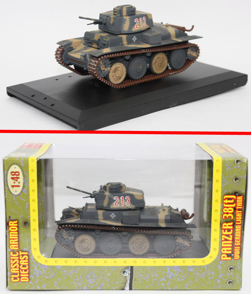 21st Century Toys WWII German Panzer 38 (T) Tank Ultimate Soldier 1/48 Plastic Tank Model Toy Diecast Cars Multi-Color A(China (Mainland))