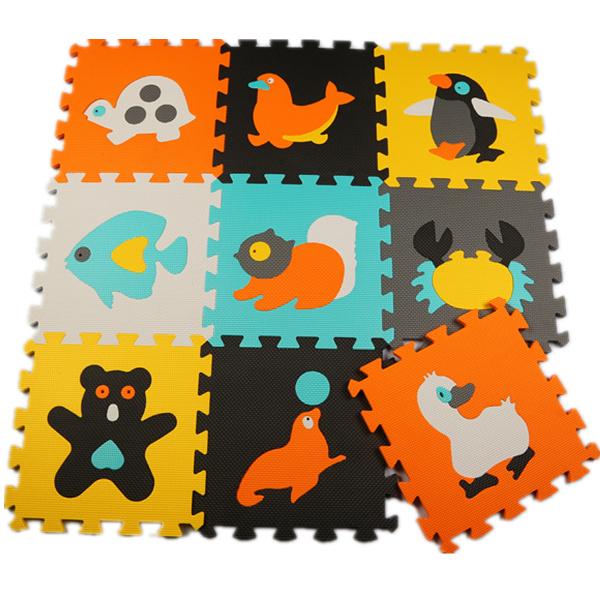 9pcs Set environmental foam jigsaw puzzle mats EVA bear pattern baby play mats foam non-slip mat kids jigsaw game mat waterproof(China (Mainland))