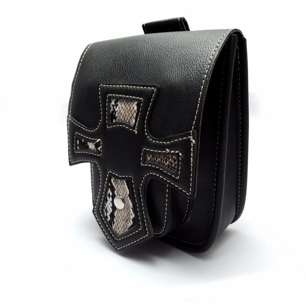 Motorcycle Side Bag Front Forks Leather Saddlebag Tool Bag For Harley Sportster 2012(China (Mainland))