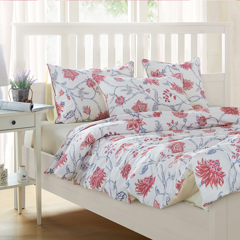 Здесь можно купить  100% Egyptian Cotton Red Floral King Size Bed Set,1pc Duvet Cover1pc Bed Sheet2pc PillowCase 2pc Cushion cover,Girls Bedding 100% Egyptian Cotton Red Floral King Size Bed Set,1pc Duvet Cover1pc Bed Sheet2pc PillowCase 2pc Cushion cover,Girls Bedding Дом и Сад