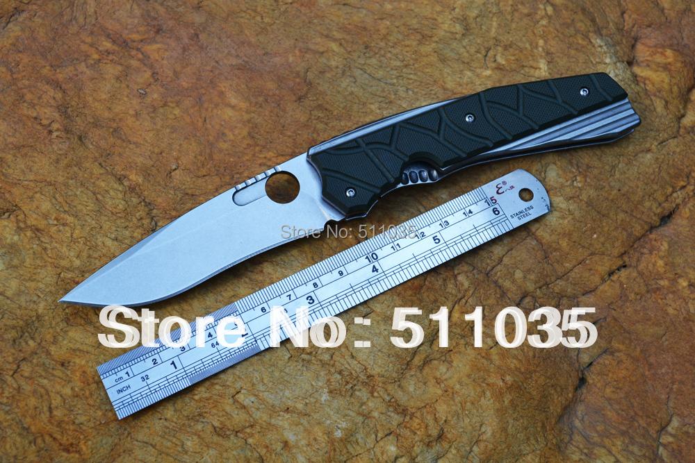 Venom folding knife Kevin John outdoor pocket knife D2 blade stonewashed G10 handle Survival hunting tool free shipping(China (Mainland))