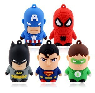 Full capacity Pass H2testw Hot Stock Usb 2.0 Super Hero Robot Usb flash drive 8GB cartoon Pen drive personalized gift pendrive(China (Mainland))