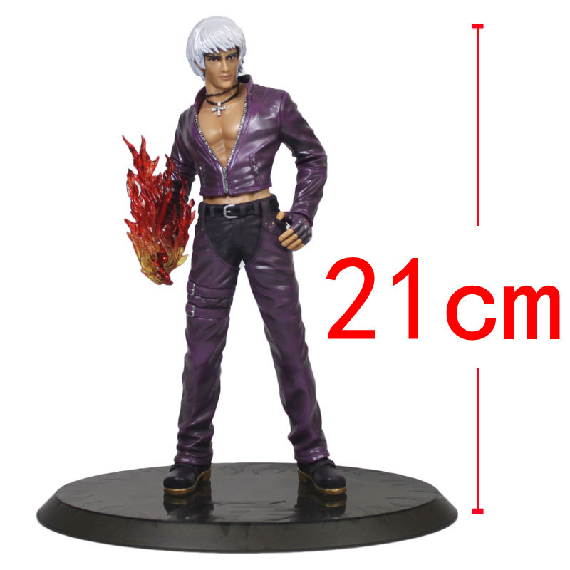 Japan Game Action Figure K.O.F. The King Of The Fighters KDash Action Figure Model PVC Figure Toy Collectible Toy 21CM Height<br><br>Aliexpress