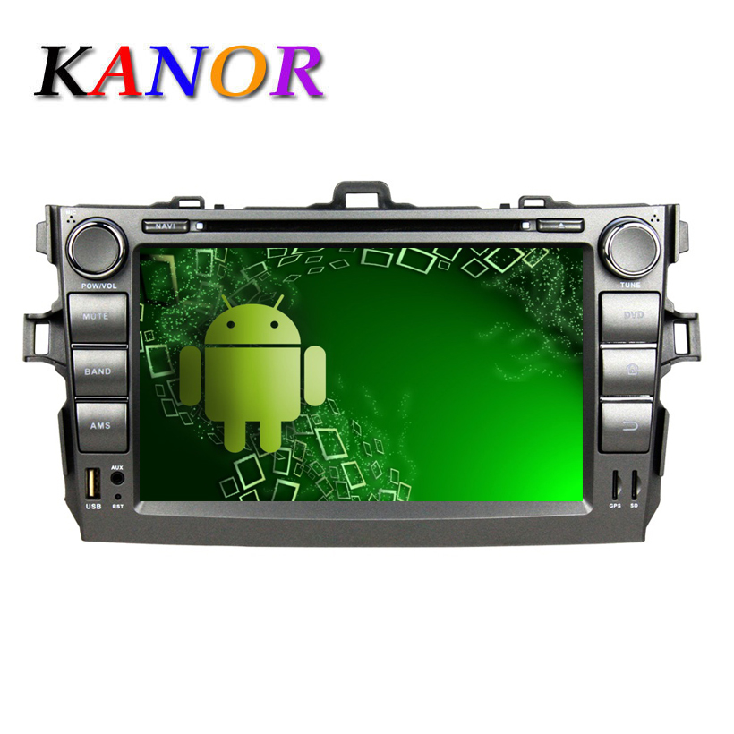 For Toyota Corolla Car Radio (06-12 ) With Android 5.1.1 OS, Pixels 1024*600, Quad-Core RK3188 Support DVD/CD Multimedia System(China (Mainland))