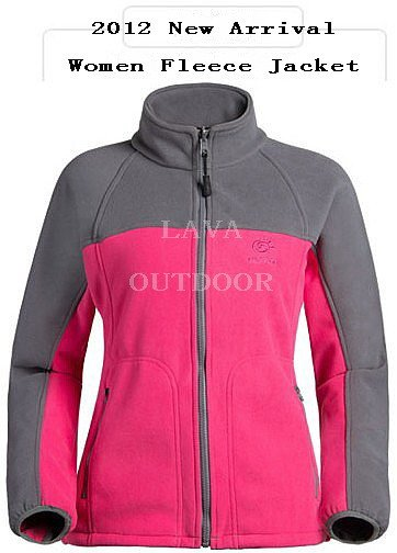 Low Price Free Ship Thermal Breathable Perspiration WindProof AntiStatic Lightweight Women's Winter Fashion Sports Fleece Jacket(China (Mainland))