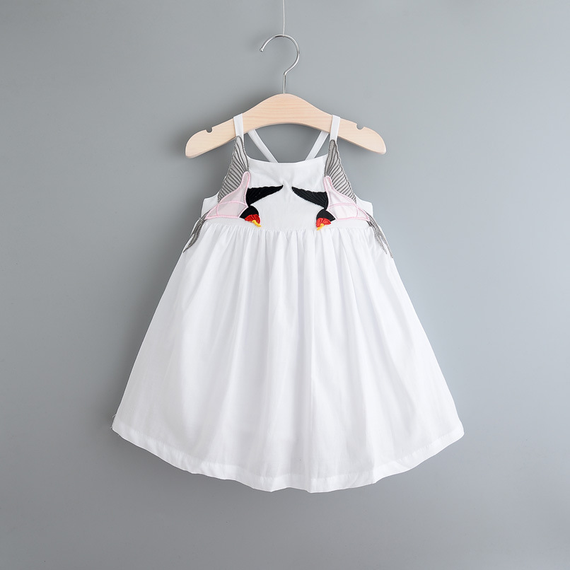 2016 new summer Kids Girls Pure Birds Embroidery Dresses Fairy Babies Fashion Clothing Tutu Wedding Dress 6pcs/lot Wholesale<br><br>Aliexpress