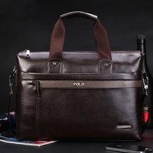 2016 Men Casual Briefcase Business Shoulder pu Leather Bag Men Messenger Bags Computer Laptop Handbag Bag Men's Travel Bags(China (Mainland))