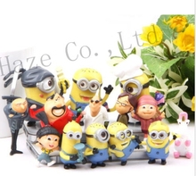 Sets of 14pcs Figures MINIONS Movie Toys Action Figures