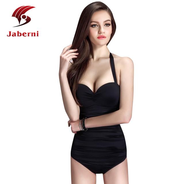 Сексуальная цельный купальник высоких частот спинки повязку купальники благородный бренд женщин монокини Большой размер росту черный купальник боди
