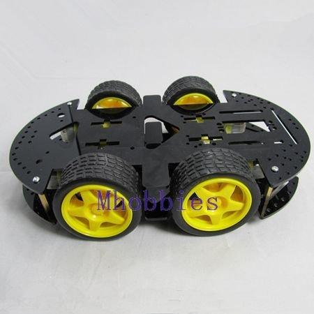 Brand New high quality HC 4WD robot chassis smart cart robot platform with motor(China (Mainland))