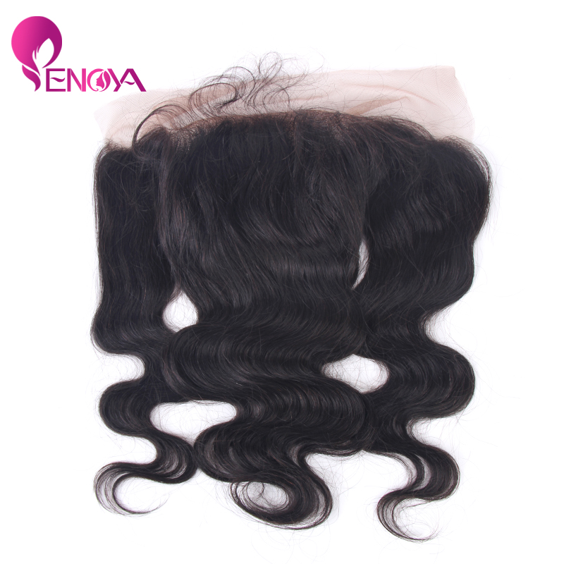 (US Stock) Peruvian Human Hair Lace Frontal Body Wave Human Hair Lace Frontals 13*4 Baby Hair(China (Mainland))