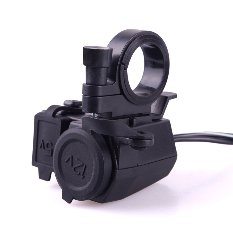 Motorcycle Scooter 12V USB Waterproof Cigarette Lighter Power Port Outlet Socket 47941