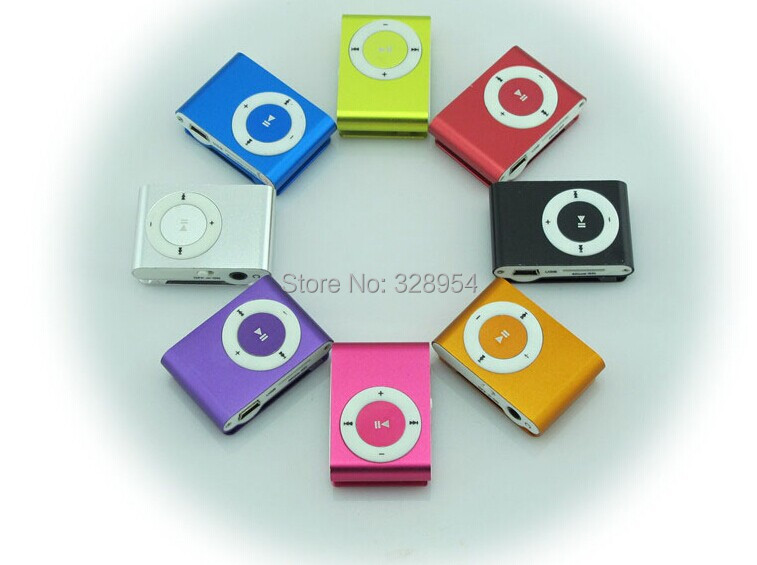 free shipping Cheapest 8 colors MINI Clip MP3 Player sport music mp3 With Micro TF/SD Card Slot With 2014 Hot Sale(only mp3)(China (Mainland))