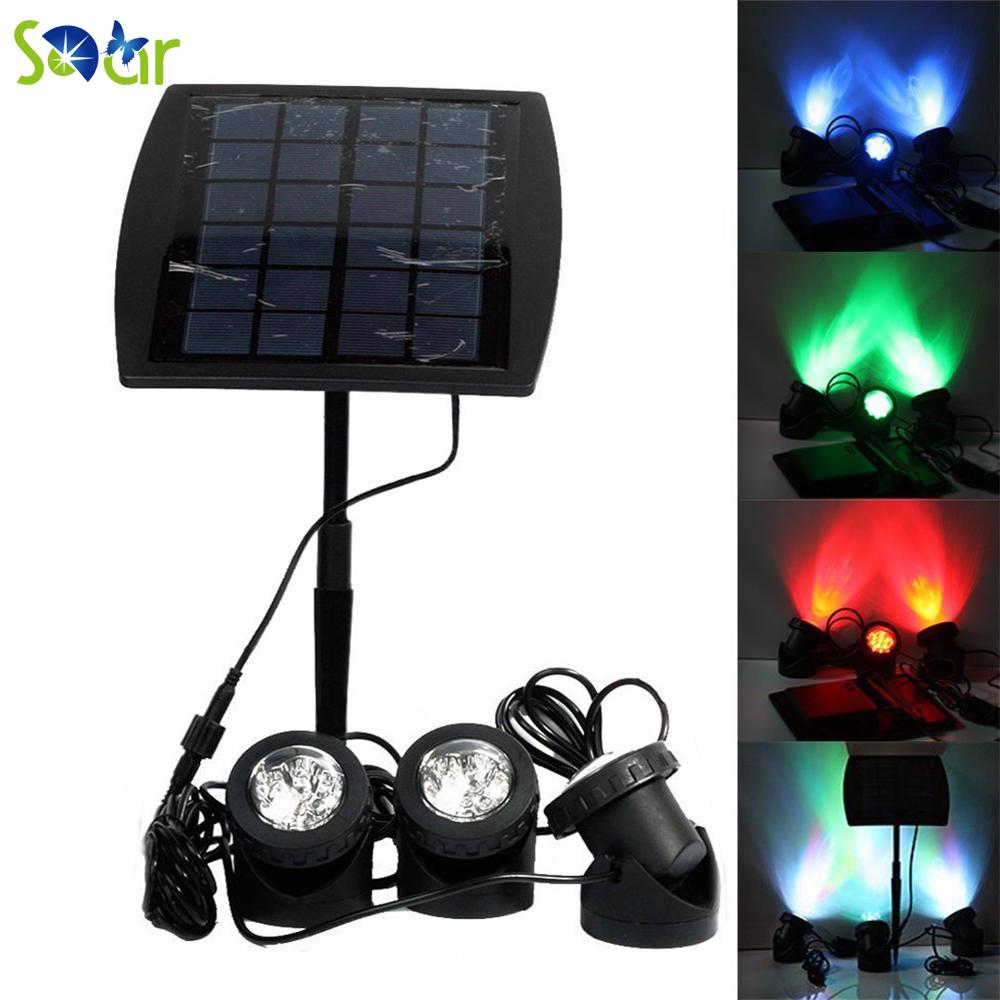 Compra solar led proyector online al por mayor de china mayoristas de solar led proyector - Focos led jardin ...