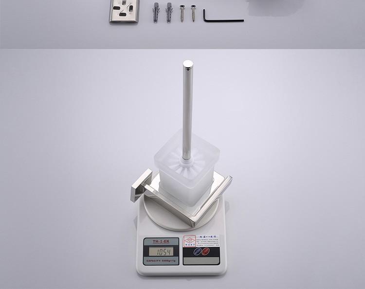 SUS 304 Stainless Steel Bathroom Hardware Set Chrome Polished Toothbrush Holder Paper Holder Towel Bar Bathroom Accessories