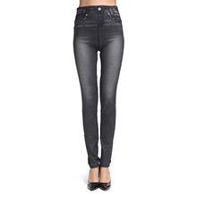 Brand Design Leggings Jeans Ladies Fashion Fitness Women Black Blue Pants Sexy Slim Jeggings Leggins Pencil Trousers 2016(China (Mainland))