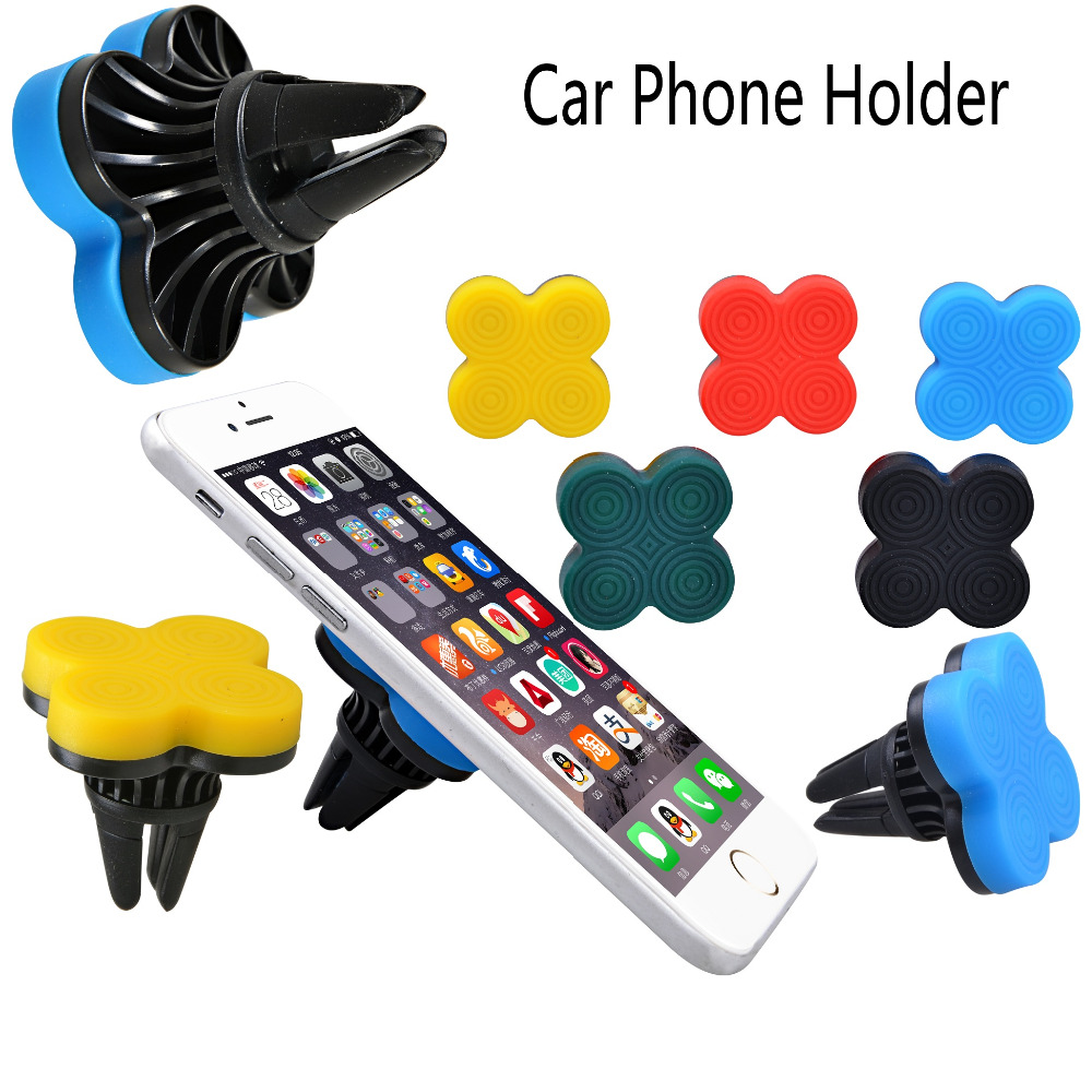 360 Degrees Universal Car Air Vent Mount Stand Sticky Stand Magnetic Car Phone Holder For iPhone 4 5 6 Samsung(China (Mainland))