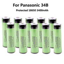 10PCS/lot New Protected Original Rechargeable battery 18650 NCR18650B 3400mah with PCB 3.7V For panasonic Free Shipping