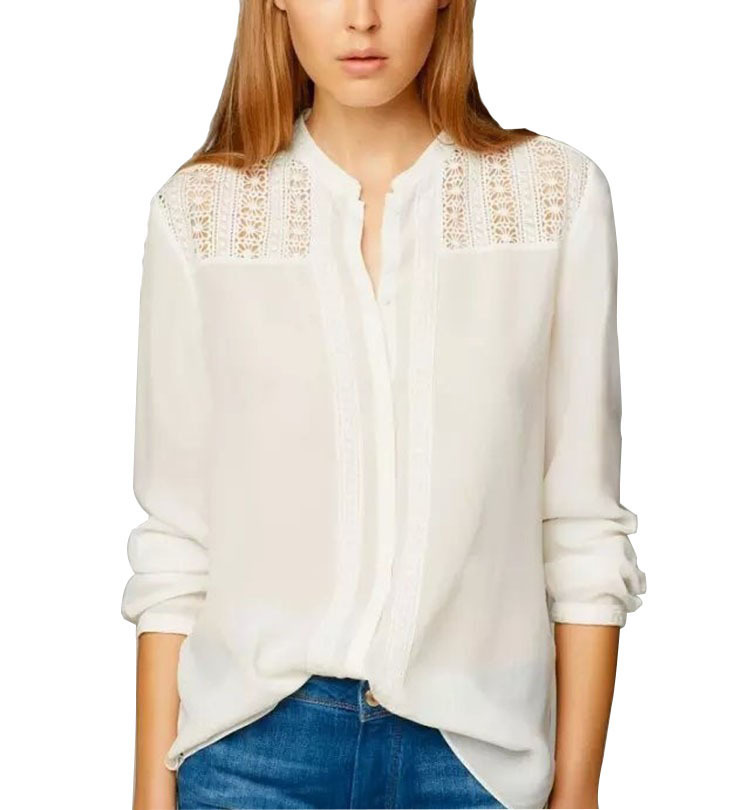 White Casual Blouse 119