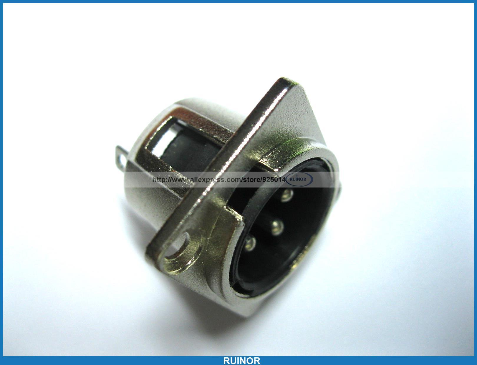 10 Pcs Metal Audio Mic Connector XLR 3 Pin Male Chassis Mount Socket Locking(China (Mainland))